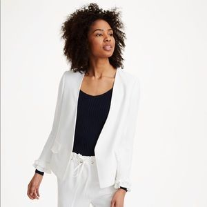 Club Monaco Fionneh Jacket White Ruffle